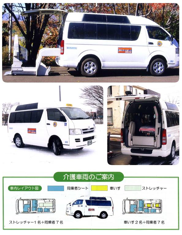 札幌市豊平区の介護タクシーSSケア・サポートの車紹介